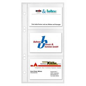 VELOFLEX Visitenkartenhülle 53520 110x220mm 10 Stück