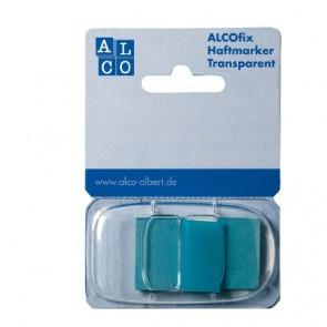 ALCO Haftmarker Spender Blau 50 Stück Transparent 25x43mm