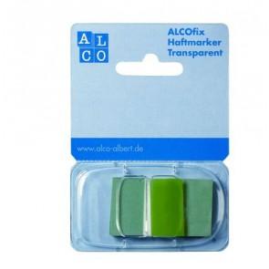 ALCO Haftmarker Spender Grün 50 Stück Transparent 25x43mm