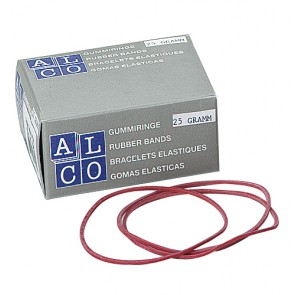 ALCO Gummiringe 25mm 50g rot