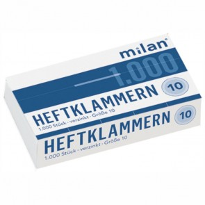 MILAN Heftklammer 825 Nr. 10 verzinkt 1000 Stück