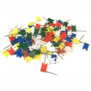 100 Stück Markierungsfähnchen Markierfahnen farbig sortiert ca. 32mm