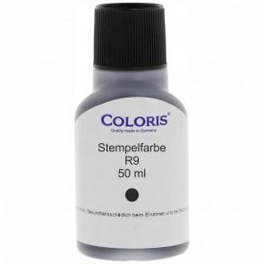 COLORIS Stempelfarbe R9 50ml mit Pinsel schwarz