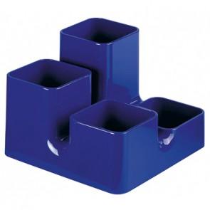 arlac Mutiköcher Uni-Butler 23424 13x9x13cm 4Fächer PS royalblau