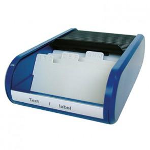 helit Visitenkartenbox Linear H6218093 max. 300Karten sw/bl