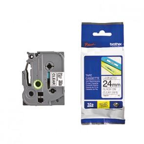 P-touch Schriftbandkassette TZE151 24mmx8m laminiert sw auf fl