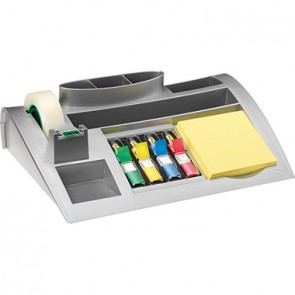 Post-it Tischorganizer C50 25,6x6,8x16,8cm silbermetallic