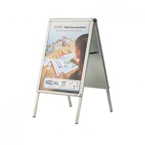 magnetoplan Kundenstopper SP 00017 89,8x149cm DIN A0 silber