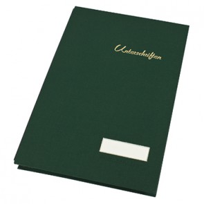 Soennecken Unterschriftsmappe 1490 DIN A4 20Fächer Leinen grün