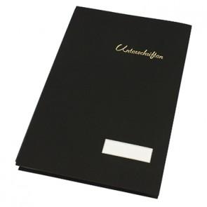 Soennecken Unterschriftsmappe 1493 DIN A4 20Fächer Leinen schwarz