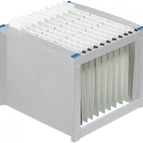 helit Hängekorb H6110084 max. 40Mappen DIN A4 lichtgrau/blau