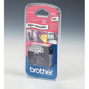 P-touch Schriftbandkassette MK221BZ 9mmx8m unlaminiert sw auf ws