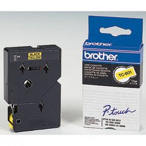 P-touch Schriftbandkassette TC601 12mmx7,7m laminiert sw auf ge