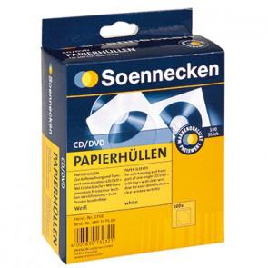 Soennecken CD/DVD Hülle 03750 mF Papier weiß 100 St./Pack.