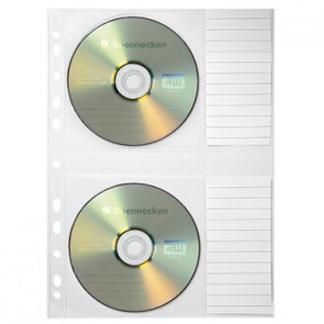 Soennecken CD/DVD Hülle 1612 für 2CDs transparent 5 St./Pack.