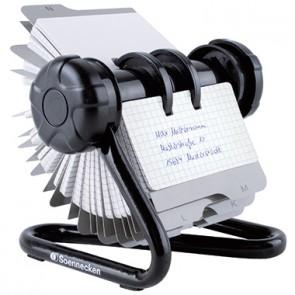 Soennecken Rollkartei 1812 schwarz +240Karten/Register