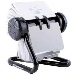 Soennecken Rollkartei 1814 schwarz +200Visitenkartenhüllen/Register
