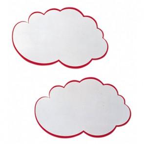 Franken Moderationskarte UMZ WM Wolke weiß/rot 20 St./Pack.