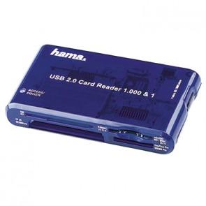 Hama Kartenleser 00055350 97x17x57mm USB2.0 TravelDrive blau