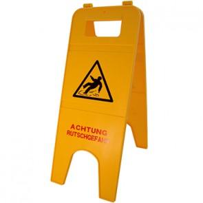 Warnschild Achtung Rutschgefahr 57cm 2teilig gelb