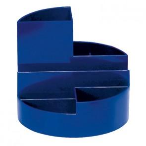MAUL Stifteköcher 4117637 14x12,5cm rund 6Fächer Kunststoff blau