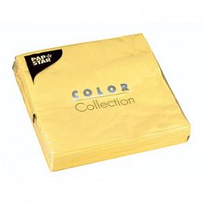 PAPSTAR Serviette 12437 33x33cm 3lagig gelb 20 St./Pack.