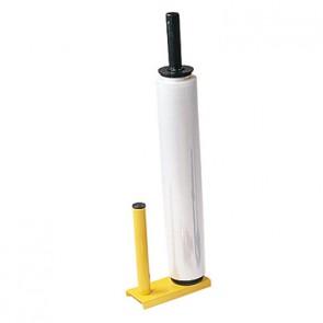 Handabroller für Stretchfolien Metall gelb