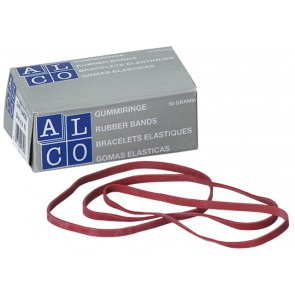 ALCO Gummibänder 100x5mm 50g rot