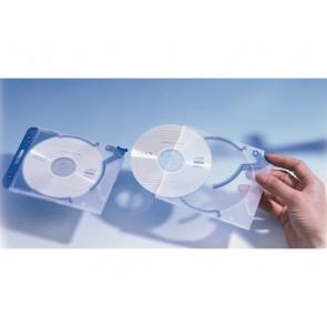 CD Box für 1 CD bl 5St QUICKFLIP m Abheftclip