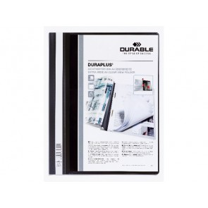 DURABLE Angebotshefter DURAPLUS 2579 A4 schwarz transparentes Deckblatt mit Tasche