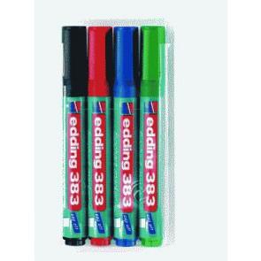EDDING Flipchartmarker 383 1-5mm Etui mit 4 Farben