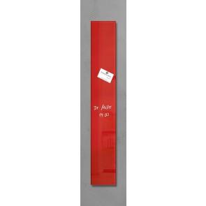 SIGEL Glas Magnetboard GL104 artverum rot 12x78cm
