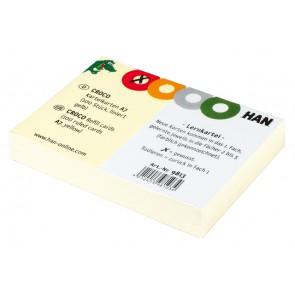 HAN Karteikarten 9812 für CROCO A8 liniert gelb 100 Stück
