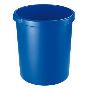 HAN Papierkorb, 30 Liter, Papierkorb leer, mit Griffrand, blau