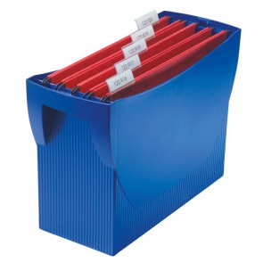Hängemappenbox SWING, blau für 20 Hängemappen, integr. Köcher