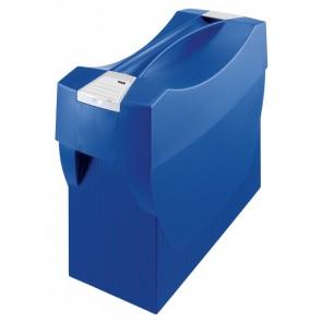 Hängemappenbox SWING-PLUS, blau für 20 Hängemappen mit Deckel