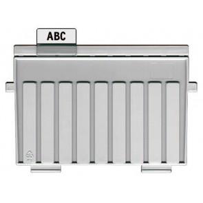 Sichtreiter für Stützplatten verschiebbar, 35 mm breit
