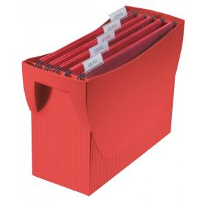 Hängemappenbox SWING, rot für 20 Hängemappen, integr. Köcher