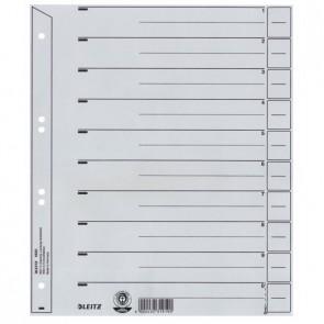LEITZ Trennblätter 1650 A4 grau 24x30cm 200g 100 Stück
