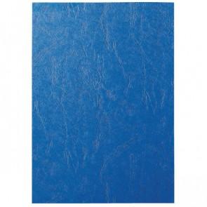 LEITZ Deckblatt Lederoptik 240g blau 100 Stück
