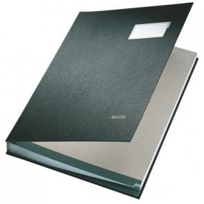 LEITZ Unterschriftsmappe 5700 20 Fächer PP schwarz