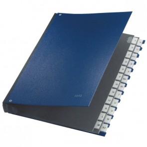 Pultordner A-Z PP blau