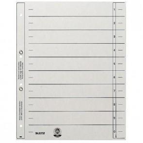 LEITZ Trennblätter 1654 A4 grau geöst 200g 100 Stück