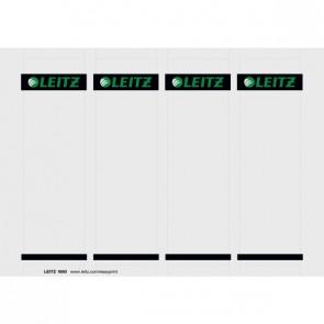 LEITZ Rückenschild 1680 Karton kurz breit für Ordner 1010, 100 Stück weiß