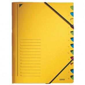 LEITZ Ordnungsmappe 3912 12 Fächer gelb