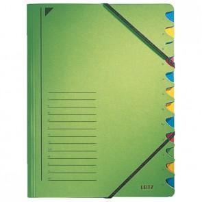 LEITZ Ordnungsmappe 3912 12 Fächer grün