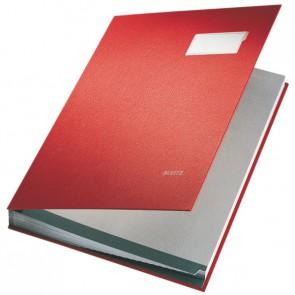 LEITZ Unterschriftsmappe 5700 20 Fächer PP rot