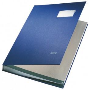 LEITZ Unterschriftsmappe 5700 20 Fächer PP blau