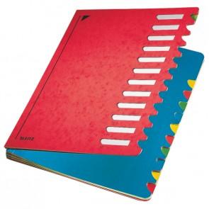 LEITZ Pultordner 5912 -Deskorganizer Color- 12 Fächer rot
