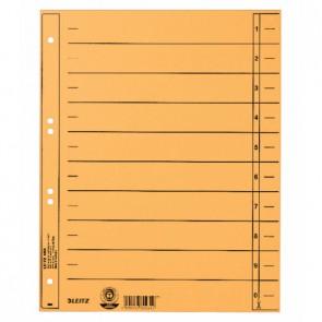 LEITZ Trennblätter 1658 A4 230g Manilakarton gelb